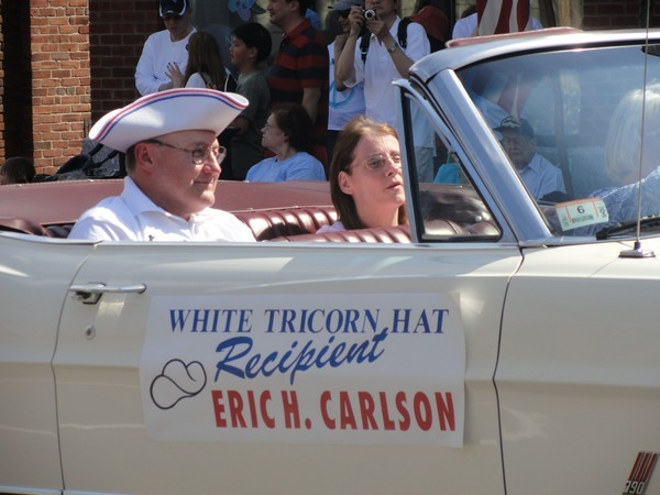 White Tricorn Hat Parade